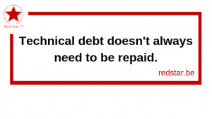 Technical debt doesn't always need to be repaid